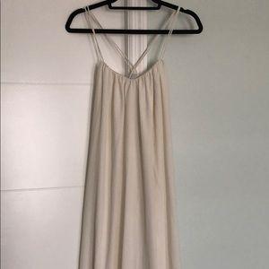 Size 8 floor length white dress from ASOS